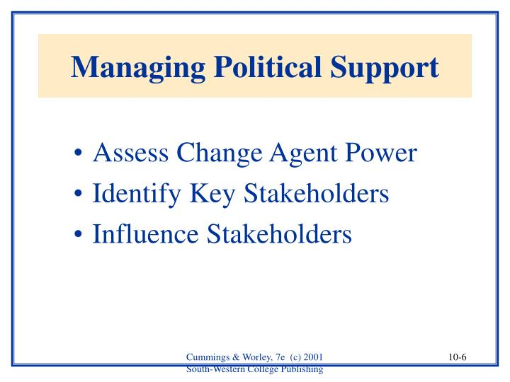 Managing Political Support