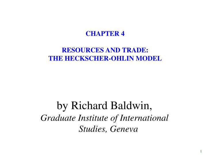 chapter 4 resources and trade the heckscher ohlin model n.