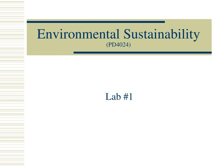 environmental sustainability pd4024 n.