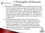 7 principles of success cont