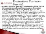 e commerce customer service