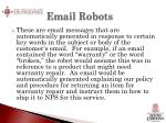 email robots