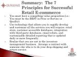 summary the 7 principles for successful retail e commerce1