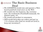the basic business deal