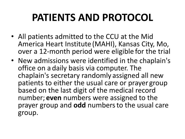 PATIENTS AND PROTOCOL