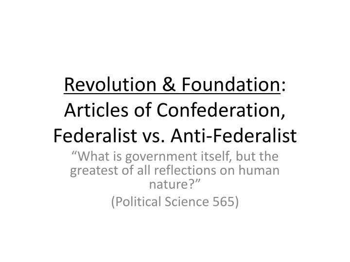 the federalist viewpoint
