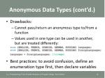 anonymous data types cont d