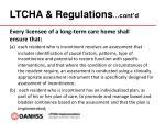 ltcha regulations cont d1
