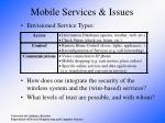 mobile services issues