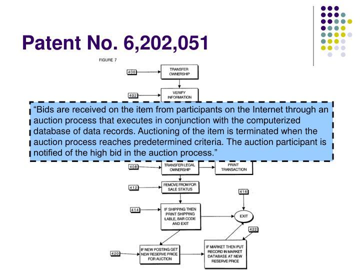 Patent No. 6,202,051