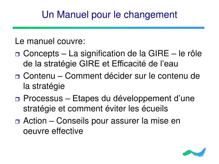 Un Manuel pour le changement