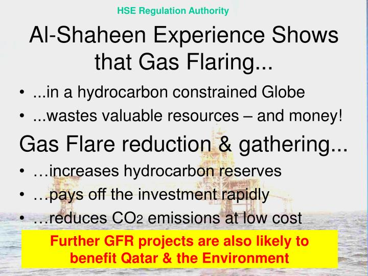 Al-Shaheen Experience Shows that Gas Flaring...