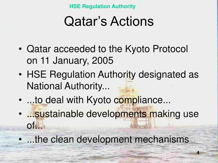 Qatar's Actions