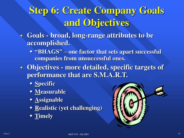 Step 6: Create Company Goals