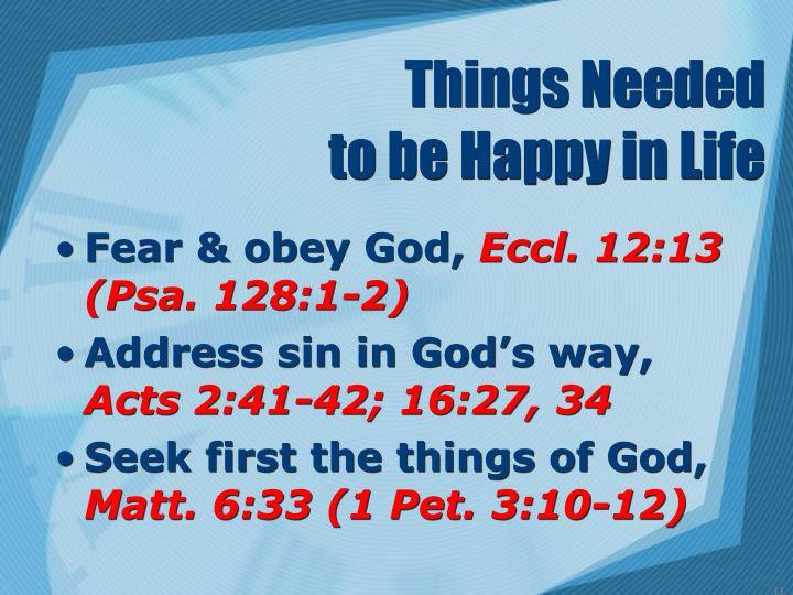 Things Needed