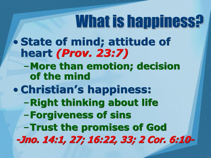 What is happiness1