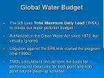 global water budget