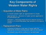 key components of western water rights1