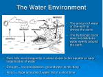 the water environment1