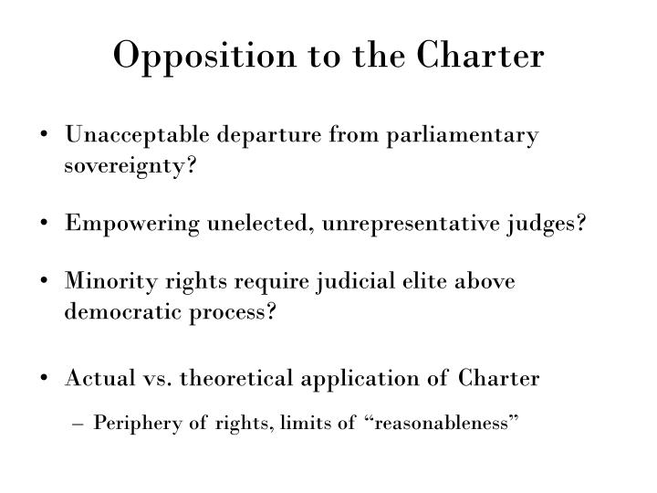 Opposition to the Charter