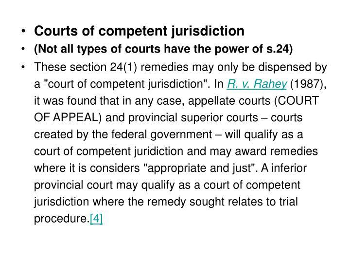 Courts of competent jurisdiction