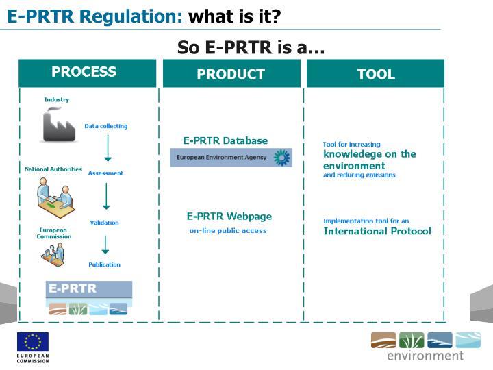 E-PRTR Regulation: