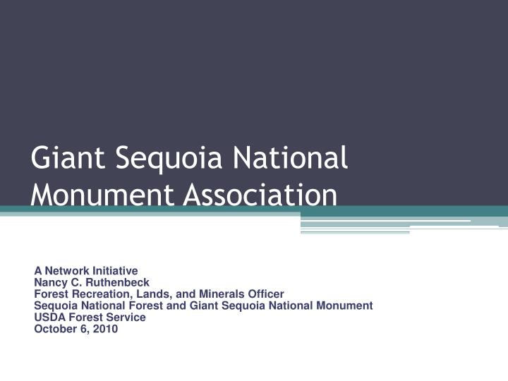giant sequoia national monument association n.