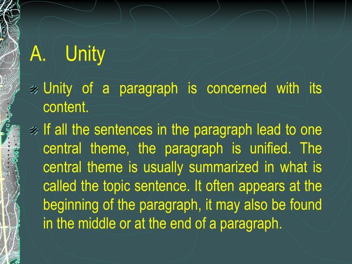 A unity