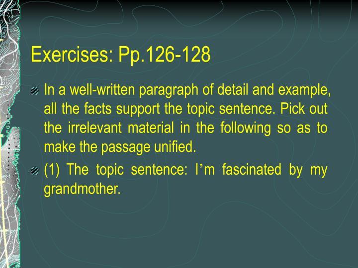 Exercises: Pp.126-128