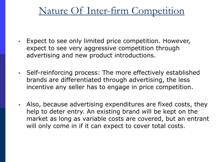 Nature Of Inter-firm Competition