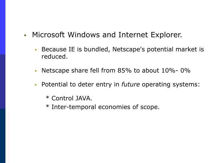 Microsoft Windows and Internet Explorer.