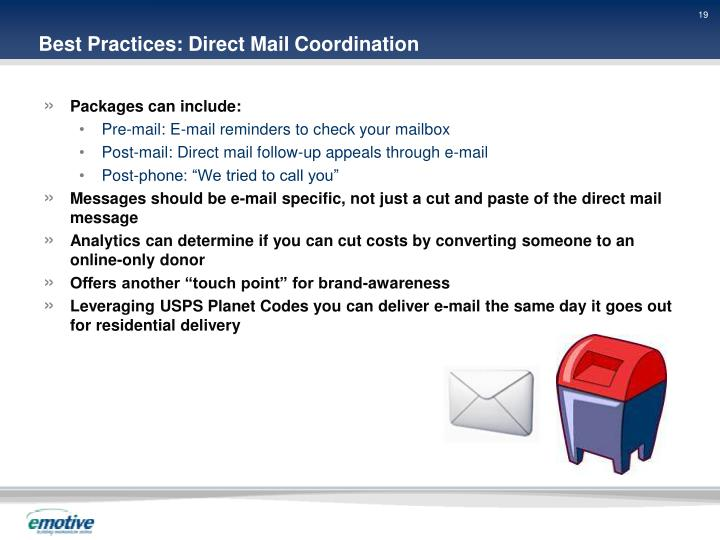 Best Practices: Direct Mail Coordination