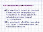 asean cooperation or competition