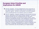 european union priorities and implications for asean2