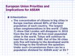 european union priorities and implications for asean3