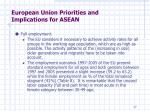 european union priorities and implications for asean5