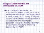 european union priorities and implications for asean6