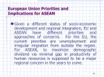 european union priorities and implications for asean7