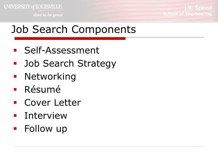Job search components