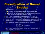 classification of named entities