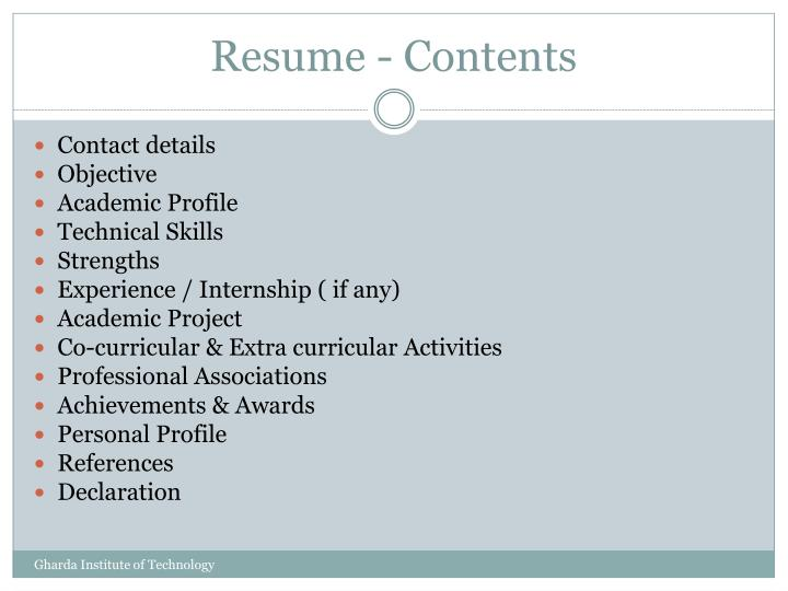 PPT - Resume Tips PowerPoint Presentation - ID:1794681