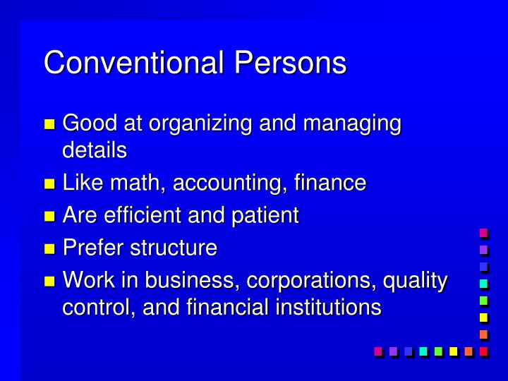 Conventional Persons
