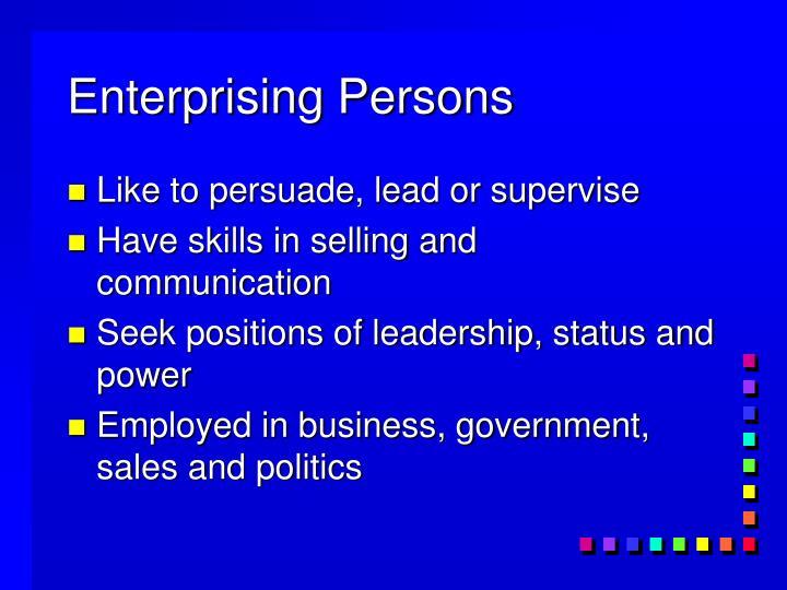 Enterprising Persons