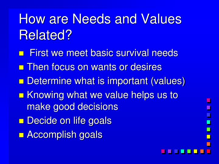 How are Needs and Values Related?