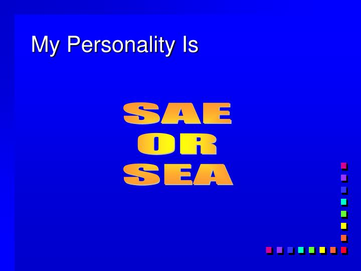 My Personality Is