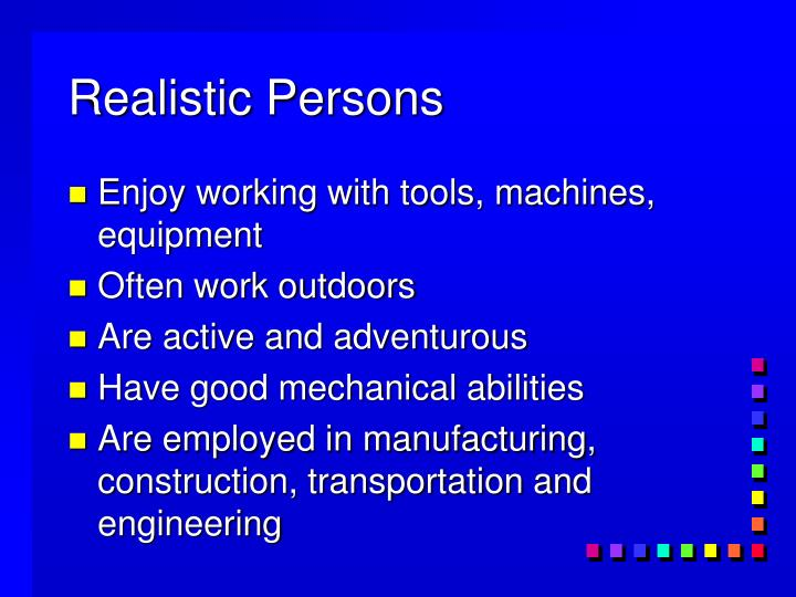 Realistic Persons