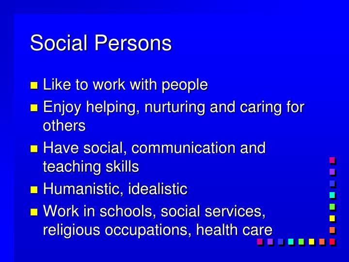 Social Persons