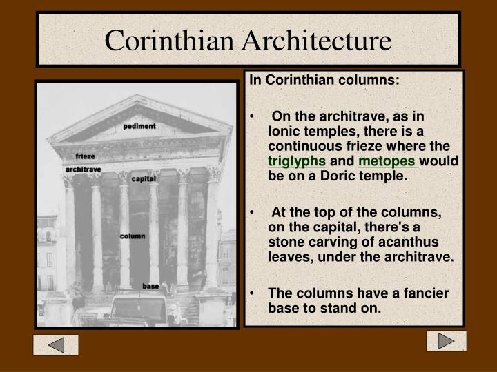 Corinthian Architecture