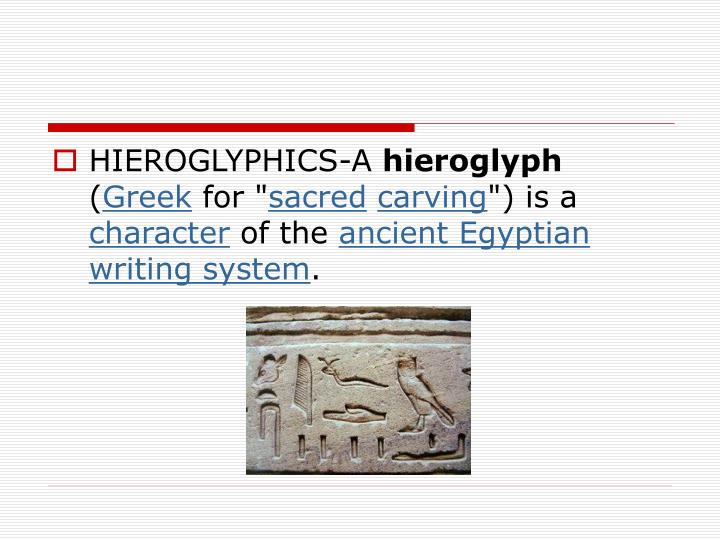 HIEROGLYPHICS-A