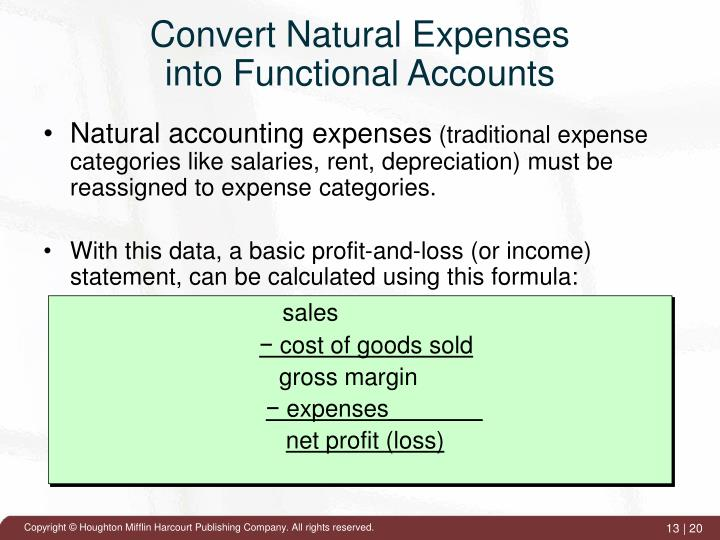 Convert Natural Expenses
